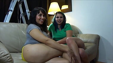 Renee Adams footjob and blowjob threesome