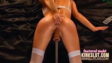 Webcam fucking machine big dildo