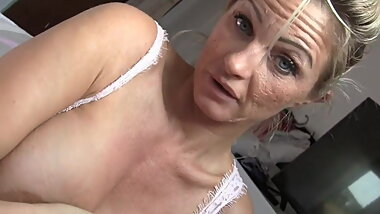 Lucky Boy with Hot Milf