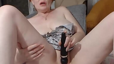 sexy lady masturbates for us
