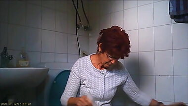 granny on the toilet