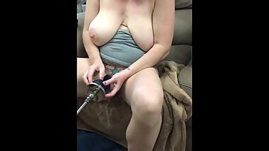 Multiple orgasms riding my fuck machine!